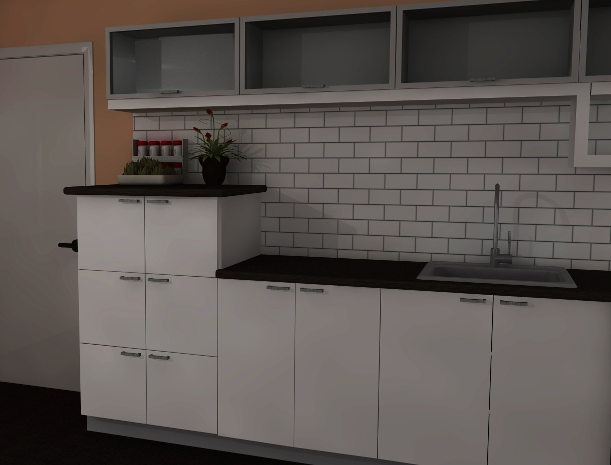 Ikea kitchen design trends medium height cabinets for Cabinet height