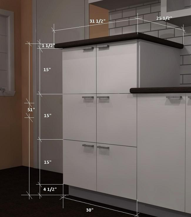 Ikea kitchen design trends medium height cabinets for Kitchen units without plinths