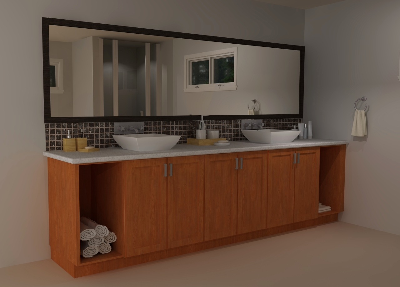 Can i use kitchen cabinets in the bathroom - Custom Cabinets At Both Sides Can Be Used For Laundry Hampers Towels Etc