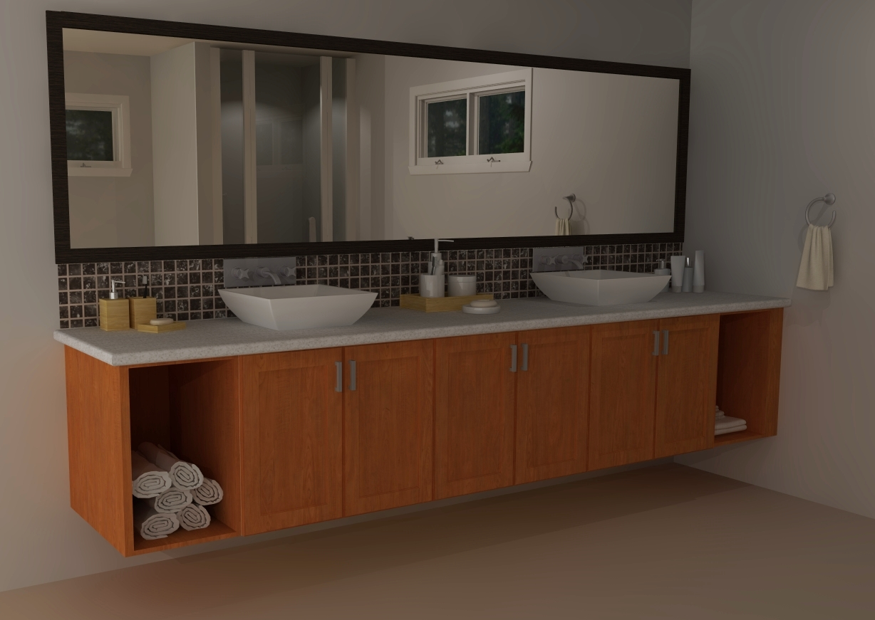 Ikea vanities transitional versus modern for Long kitchen wall units
