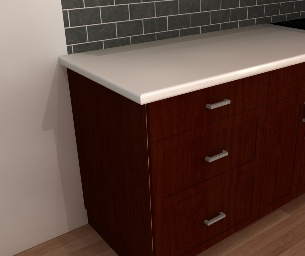 Countertop Edge Bumper : Countertop edges have to be rounded whenever possible. Or, you can ...