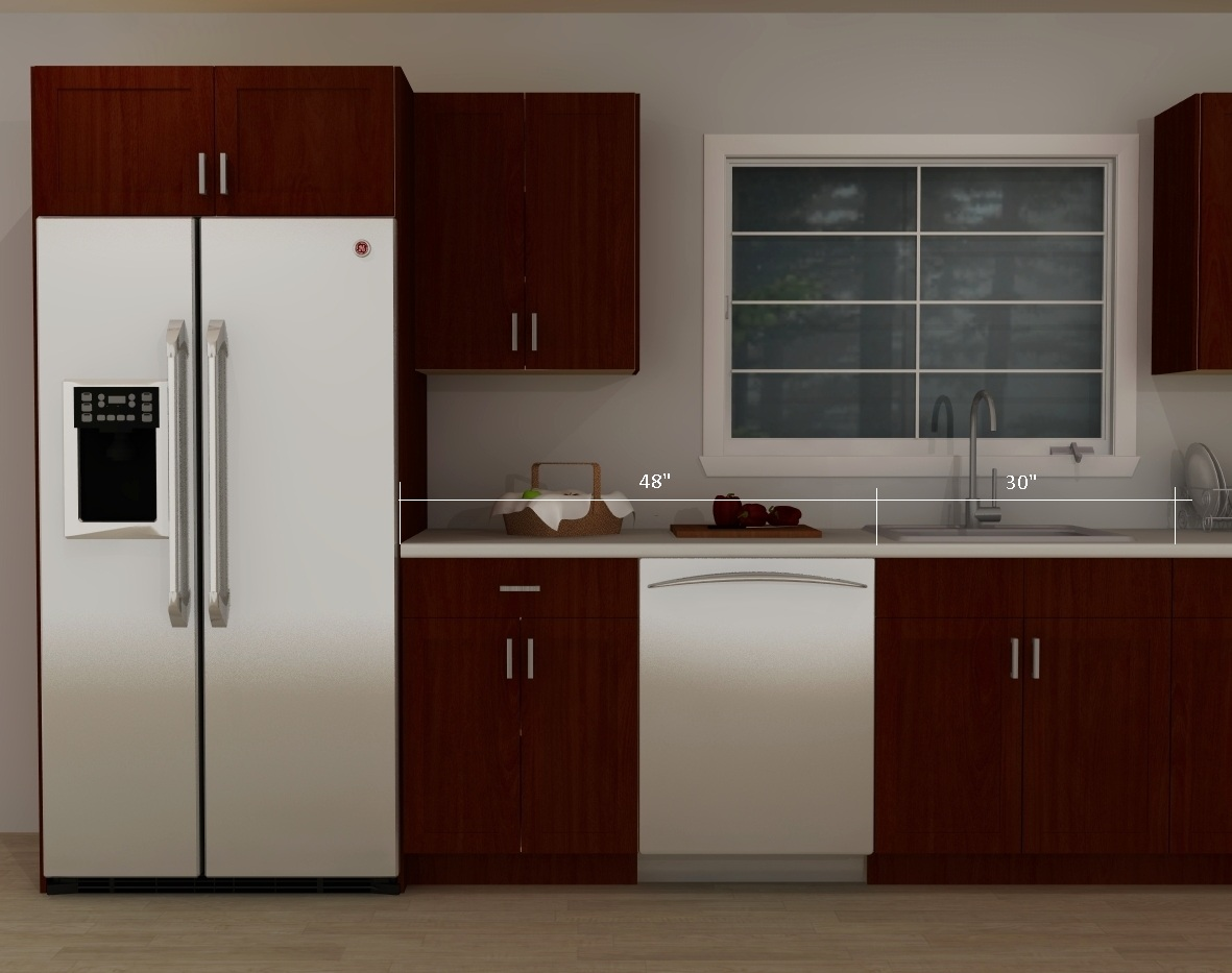 Fridge In Kitchen tips for a better ikea kitchen design: combined landing areas