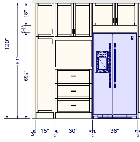 Customize an ikea tall cabinet with drawers for Kitchen cabinets height